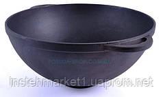 Сковорода чугунная ВОК с двумя литыми ушками без крышки Ситон.