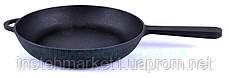 Сковорода з литої металевої ручкою чавунна Сітон 22 см, фото 3