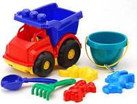 """Машина """"Тотошка"""" самосвал №3: машинка, ведёрко, лопатка и грабельки (ЛГ3) и три пасочки (П3)"""