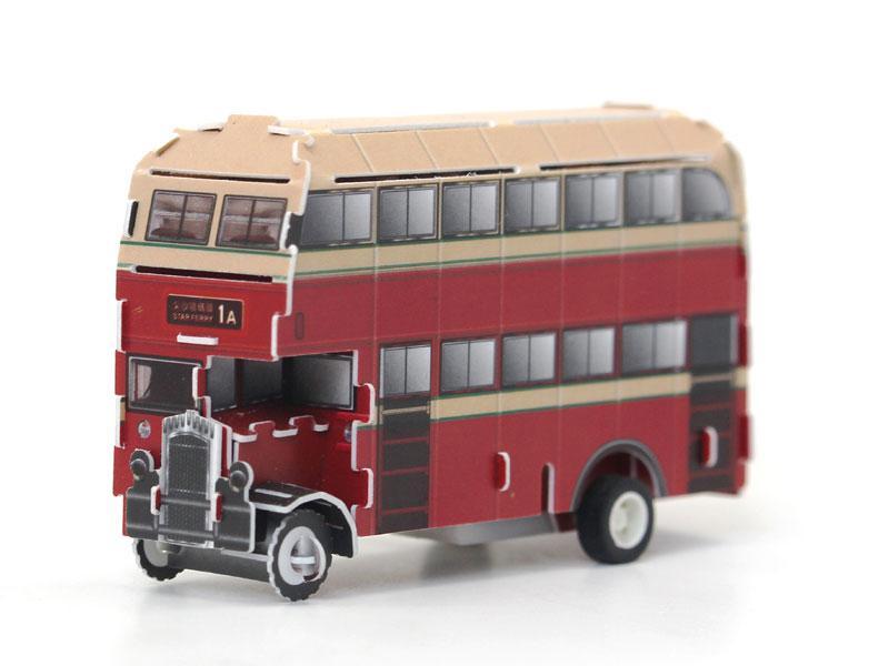Заводной 3D пазл Двухэтажный автобус Даблдекер Hope Winning HWMP-90