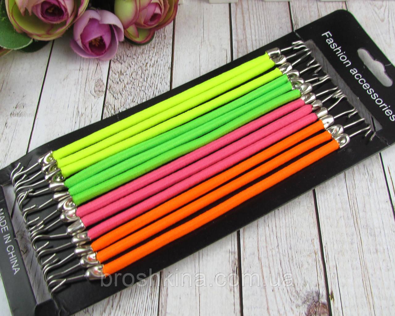 Резинки для волос с крючками цветные 24 шт/уп