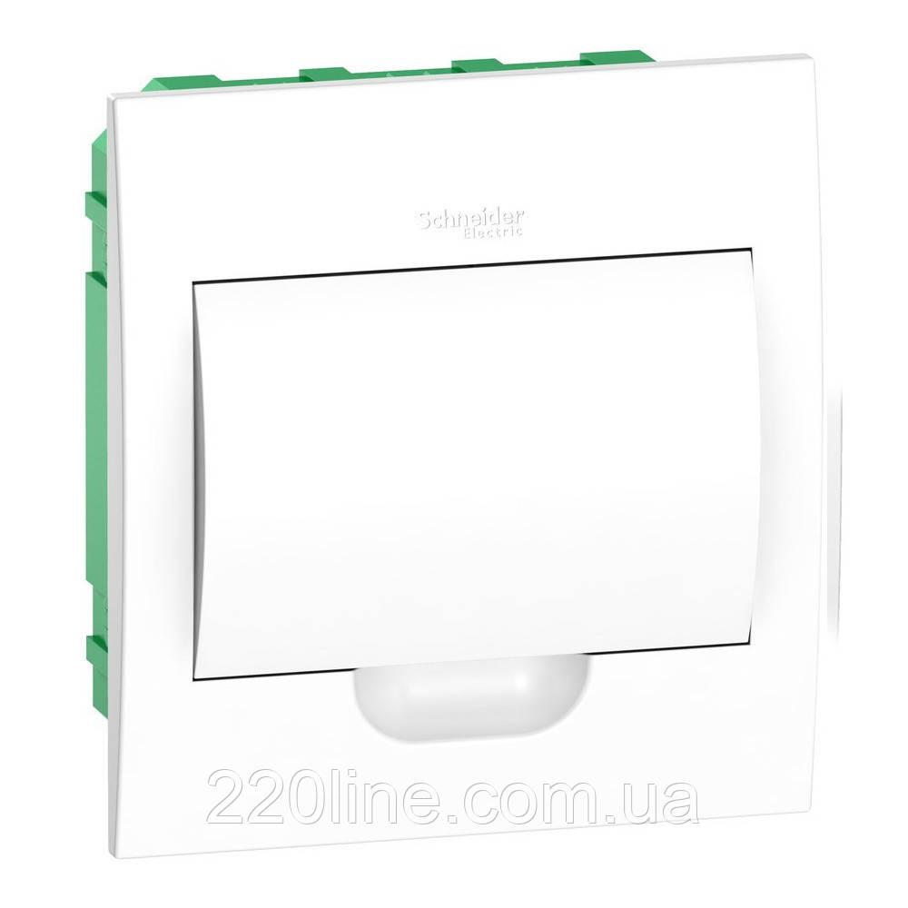 Щит пластиковый встраиваемый с белой дверцой на 18 модулей IP40 Schneider Electric Easy9 EZ9E118P2F