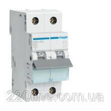 Автоматический выключатель Hager MB506A 1P+N 6kA B-6A 2M