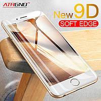Защитное стекло 9D для Iphone X белое Premium качество, фото 1