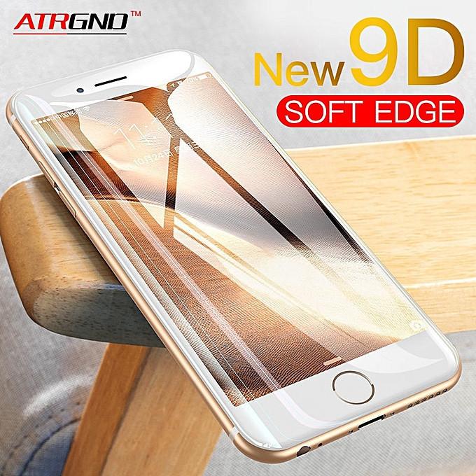 Защитное стекло 9D для Iphone X белое Premium качество