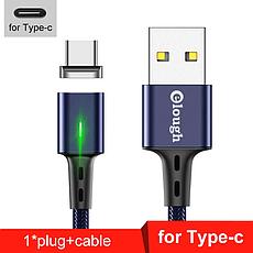 Elough E-Star 3A магнітний USB Type-C кабель. Швидка зарядка Qualcomm Quick Charge 3.0 Black, фото 2