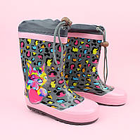 Дитячі Гумові чобітки для дівчинки Котик тм Bi&Ki розмір 29, фото 1