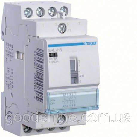 Реле Hager ERL418 16A 2НО+2НЗ 8/12W
