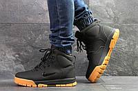 Мужские зимние ботинки на меху в стиле Nike, черные 42 (27 см)