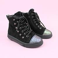 Зимові шкіряні черевики на дівчинку тм Bi&Ki розмір 28,29