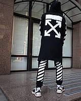 Мантия унисекс в стиле Off white Cross чёрная M