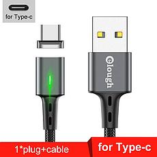 Elough E-Star 3A магнитный USB Type-C кабель. Быстрая зарядка Qualcomm Quick Charge 3.0 Moonlight Blue, фото 2