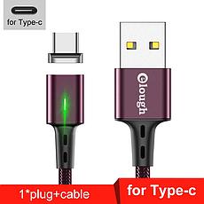 Elough E-Star 3A магнитный USB Type-C кабель. Быстрая зарядка Qualcomm Quick Charge 3.0 Galaxy Grey, фото 2