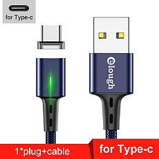 Elough E-Star 3A магнитный USB Type-C кабель. Быстрая зарядка Qualcomm Quick Charge 3.0 Galaxy Grey, фото 3