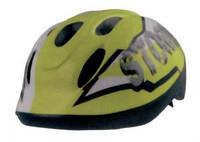 Шлемы, защита, перчатки...:Шлемы:Bellelli:Шлем детский BELLELLI STORM салатовый, размер S