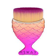 KATTi Кисть для макияжа Русалка metalic золотисто-розовая прямая для контуринга, тональных средств, фото 2