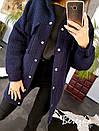 Женское полуПальто из ткани букле на кнопках с карманами на груди 66pt194Е, фото 5