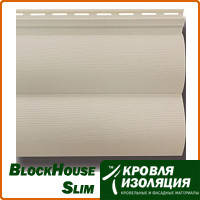 Панель BlockHouse Slim, бежевый; 3,66х0,23м