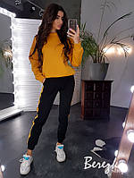 Женский теплый спортивный костюм со свитшотом и штанами на манжетах 66so741Q