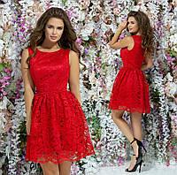 Женское шикарное выпускное (вечернее) платье гипюр с атласом