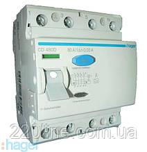 """Дифреле HAGER 4-п CD480D 80А ток утечки- 0.03A """"А"""""""
