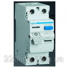 УЗО (дифреле) Hager CD263J 63 А 30 мA 2 полюса тип А