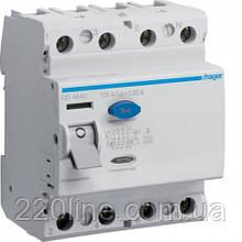УЗО (дифреле) Hager CE440J 40 А 100 мA 4 полюса тип А