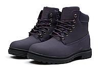 Женские зимние ботинки на меху в стиле Timberland Premium Boot, фиолетовые 40 (26,3 см)