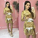 Велюровое платье для мамы и дочки с поясом и рукавом 3/4 28md55, фото 2
