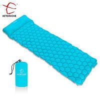 ✅ Hitorhike надувной коврик матрас туристический с подушкой в палатку