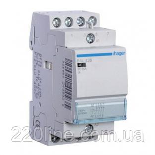 Контактор Hager ESL427 25A 2НВ+2НЗ 12W