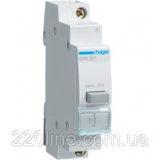 Выключатель кнопочный возвратный 230W 16А 1НО SVN321 Hager