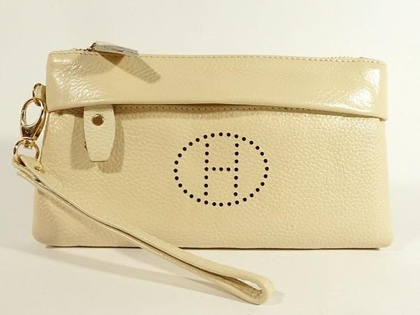 f4ff7f7d1194 Клатч - кошелек женский натуральная кожа бежевый 1905 - Интернет-магазин