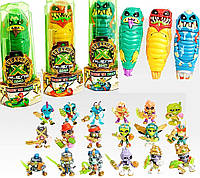 """Набор сюрприз """"Пришельцы"""" Слайм, скелет пират-охотник и сокровище. Treasure X Aliens из США!"""