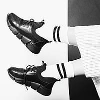 Стильные женские кроссовки на рельефной подошве со стрейчем VM-Villomi