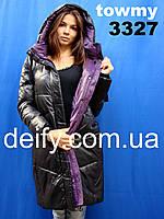 Куртка пуховик пальто женское Towmy 3327 (S-2XL) пуховики куртки Towmy, Hailuozi, Peercat, Meajiateer, Visdeer