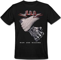 Футболка U.D.O. - Man And Machine (чёрная)