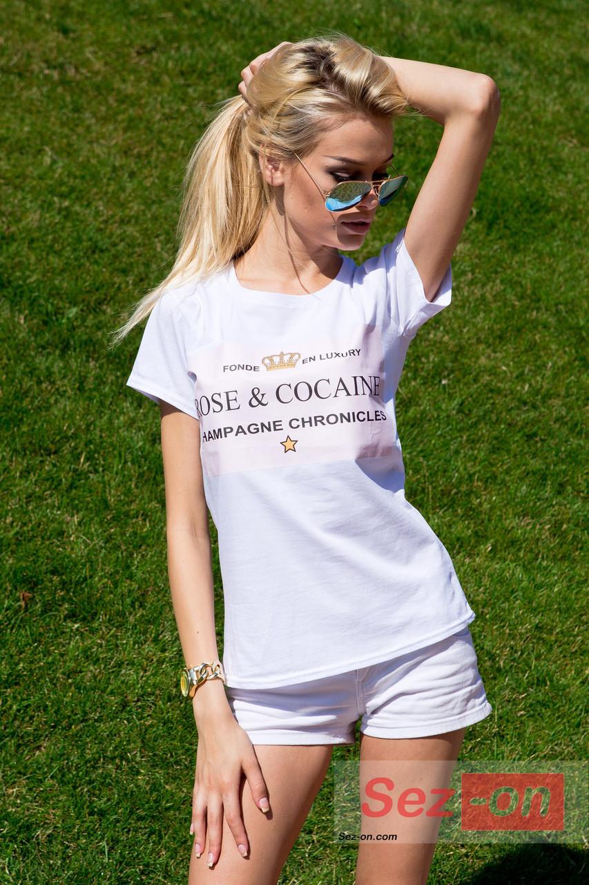 Футболка жіноча ROSE & COCAINE