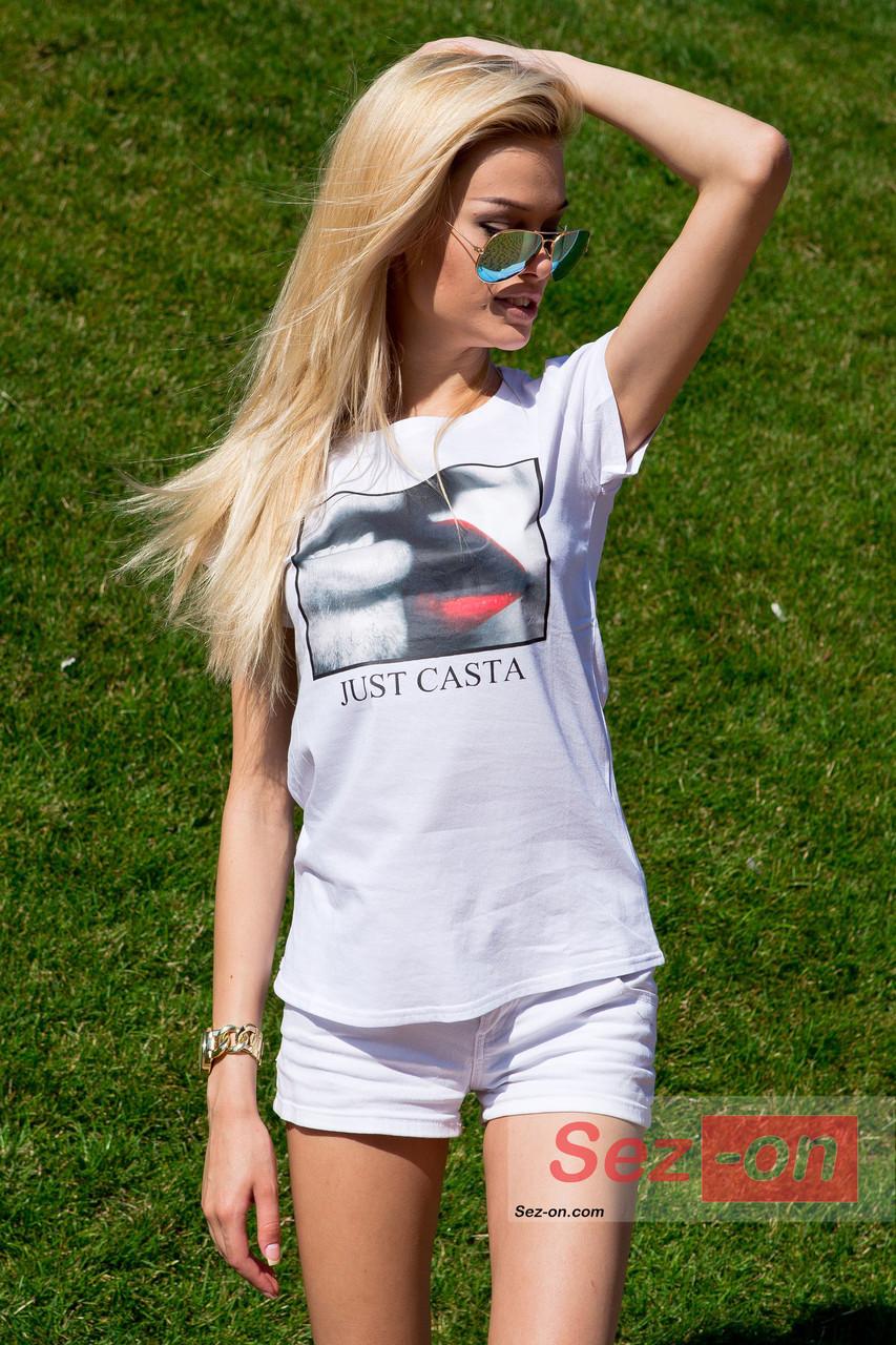 Футболка жіноча біла JUST CASTA