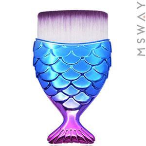 KATTi Кисть для макияжа Русалка metalic сине-розовая прямая для контуринга, тональных средств