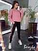 Жіночий теплий спортивний костюм з свитшотом і штанами на манжетах 66rt741Q, фото 2