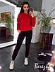 Жіночий теплий спортивний костюм з свитшотом і штанами на манжетах 66rt741Q, фото 5