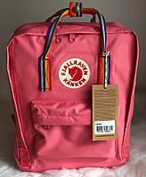 Городской рюкзак Канкен Fjallraven Kanken Rainbow Pink.  Живое фото. Premium (Реплика ААА+), фото 1