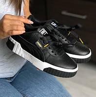 Жіночі кросівки Puma Carina Leather Trainers Ladi Black White 36-40рр. Живе фото. Репліка ААА+