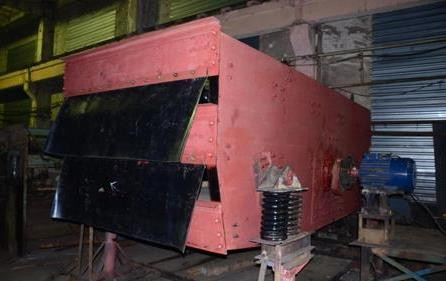 Обкатка грохота ГИЛ 53М (перед покраской).