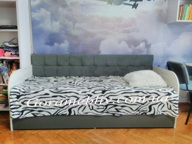 """На фото: детская кровать с мягкой спинкой """"Л-7"""" фото наших покупателей"""