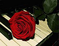 Картина по номерам Роза на рояле