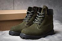 Женские зимние ботинки на меху в стиле Timberland 6 Premium Boot, хаки 36 (24 см)