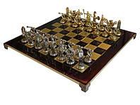 Шахматы Manopoulos Олипийские игры латунь в деревянном футляре красные 54см х 54см