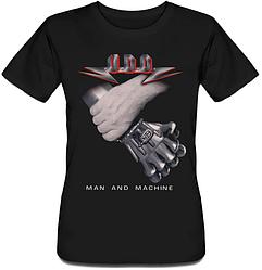 Женская футболка U.D.O. - Man And Machine (чёрная)